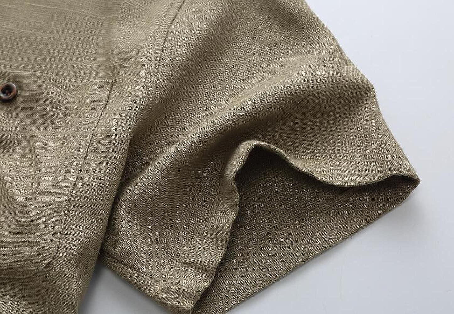 Herrenhemden Herrenhemden Herrenhemden Leinen Lose Halbe Hülse Mode Button Down T-Shirt Europa Und Amerika B07CLNKF5G T-Shirts Ausreichende Versorgung 1cf4de