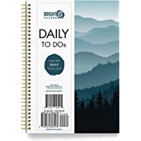 to Do List Daily Task Checklist Planner Time Management Notebook by Bright Day Non Dated Flex Cover Spiral Organizer 8…