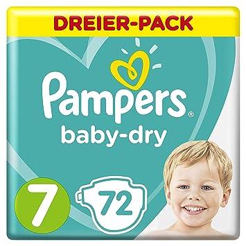 Pampers Baby-Dry 72 Windeln, für Atmungsaktive Trockenheit, Größe 7