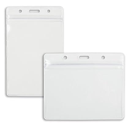 10 x Karteo® Identificación móvil 70 x 100 mm, cierre con ...