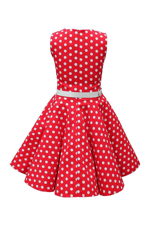 Amazon.com: Black Butterfly Clothing BlackButterfly Kids Audrey Vintage Polka Dot 50s Girls Dress: Clothing