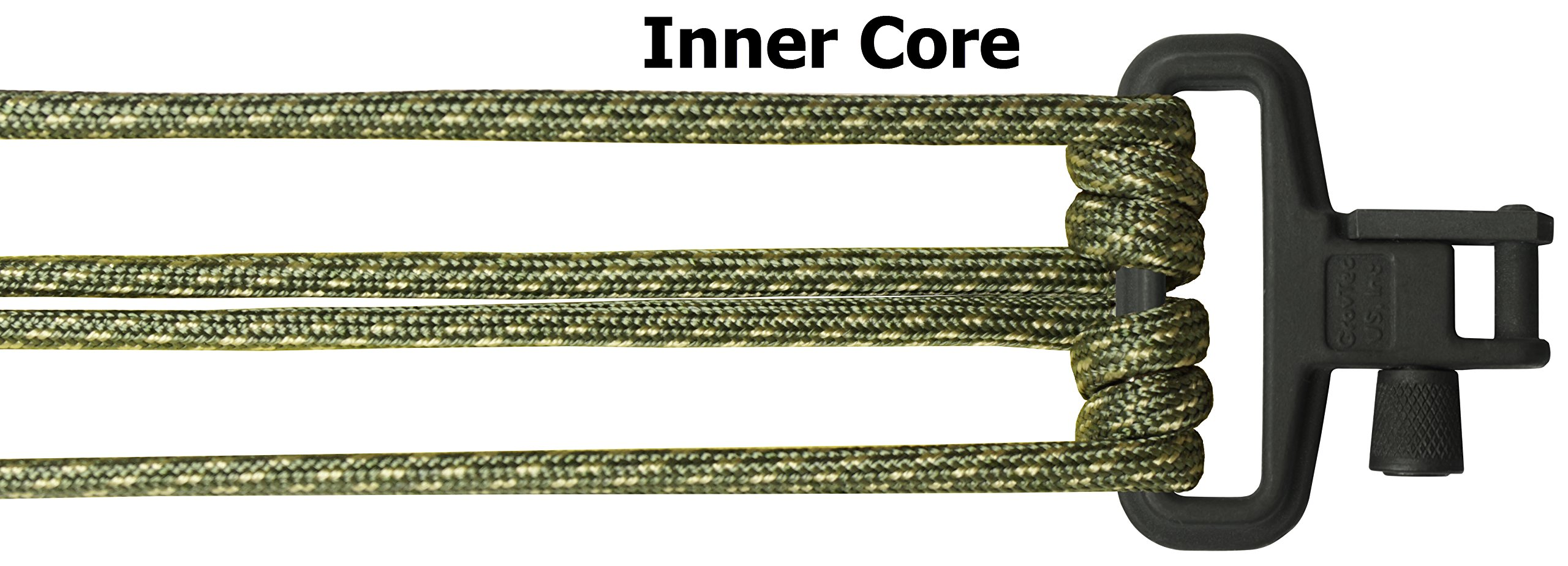 TOUGH-GRID Backbone(TM) Paracord Rifle Sling - Gun Sling/Rifle Sling - Handmade in The USA with Authentic Mil-Spec 750lb Type IV Paracord and Mil-Spec Swivels (BackBone105DGCBoa) by TOUGH-GRID (Image #5)