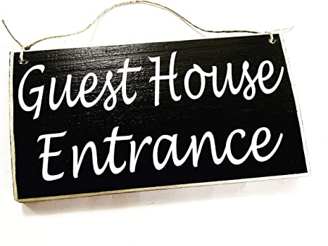 10x6 Guest Quarters Custom Wood Sign Suite Entrance Welcome Suite Cottage Bed and Breakfast AirBnb Door Wall Plaque