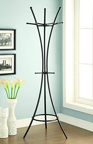 Coaster Home Furnishings 12-Hook Coat Rack Black