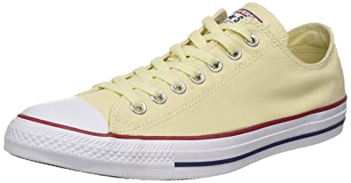 f1aac392c0e3 Converse Unisex Chuck Taylor All Star Low Top Natural White Sneakers -  Men s 4