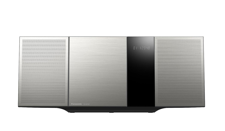Panasonic Micro HiFi System SC-HC397 - Microcadena (Home Audio Micro System, Plata, 40 W, 8 Ω, 10%, FM)