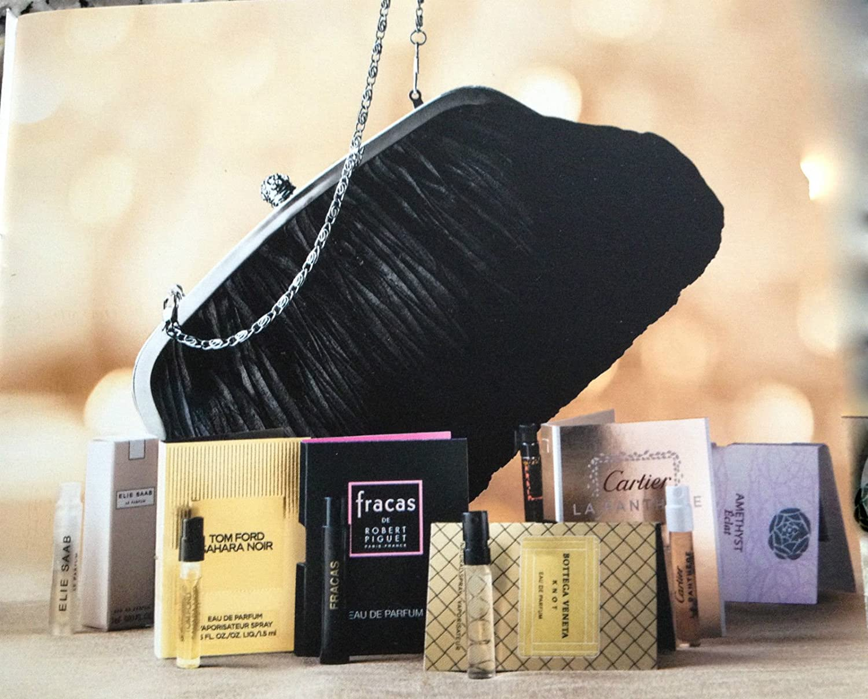 78cdc75e1 Amazon.com : Women's Fragrance Sampler Set Neiman Marcus Clutch & 7  Designer Scents : Beauty