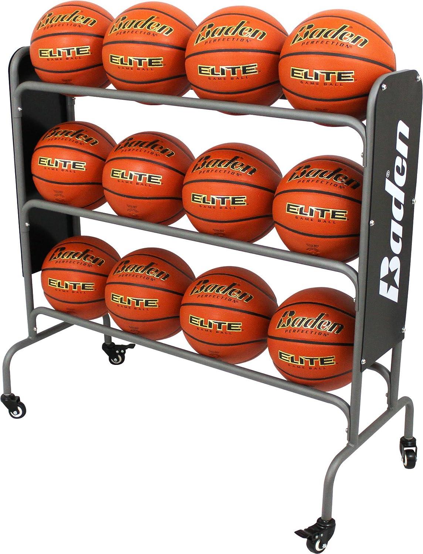 Baden Steel Basketball Rack (12-Balls): Sports & Outdoors