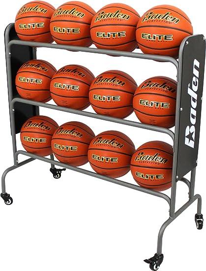 Baden balón de Baloncesto de Acero Rack (12-Balls): Amazon.es ...