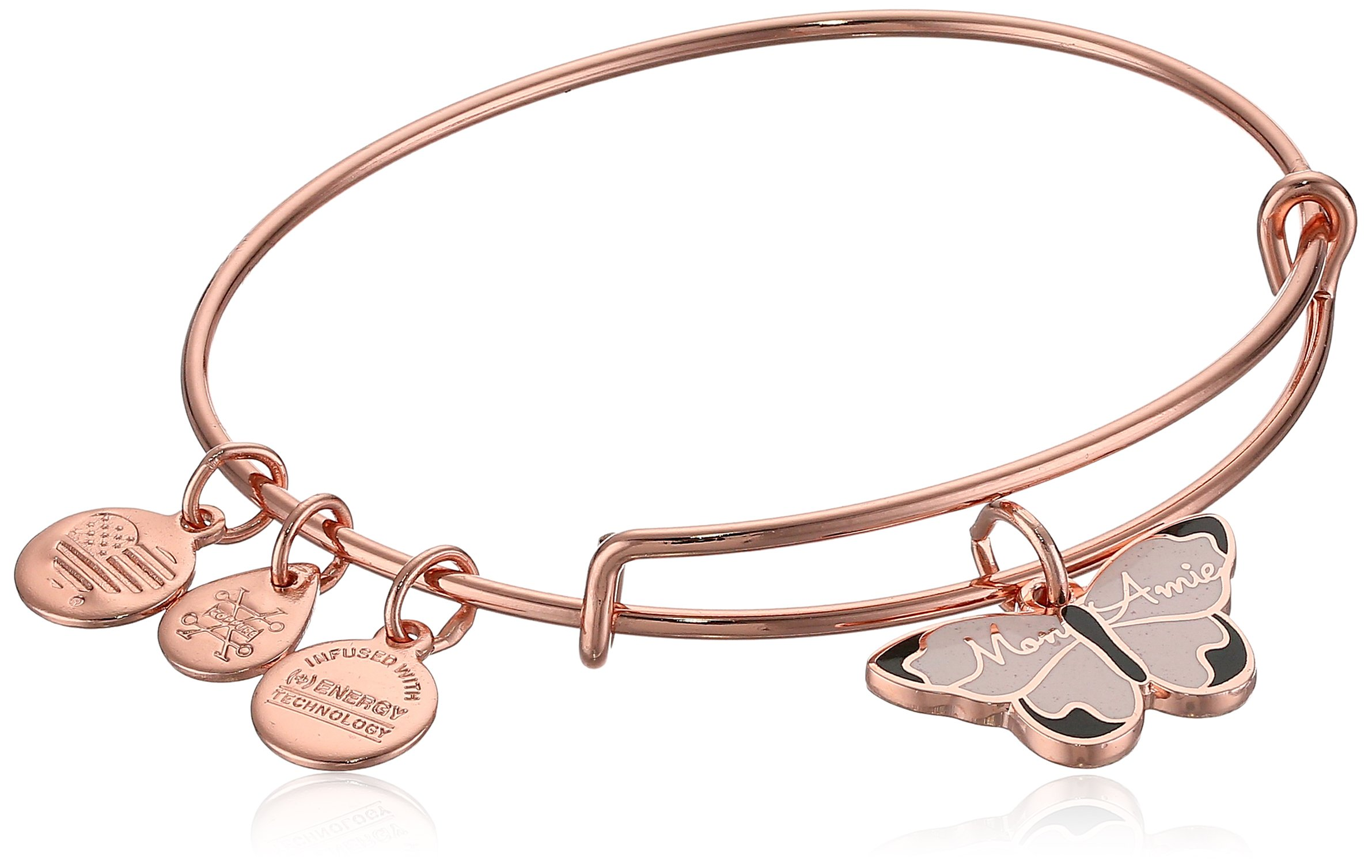 Alex and Ani Color Infusion, Mon Ami Butterfly EWB, Shiny Rose, Expandable