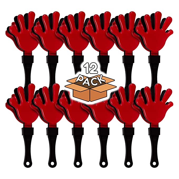 Amazon.com: clappers de mano – 12 unidades) Color Rojo y ...