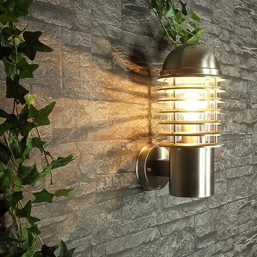 XXL acero inoxidable Lámpara Exterior Luz De Pared