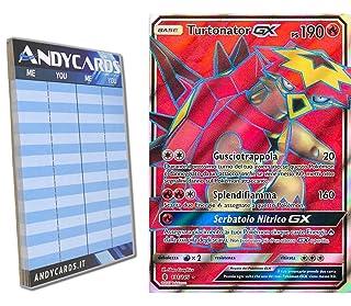 Turtonator-GX 131/145 - Rara Full Art - Sole e Luna Guardiani Nascenti SM02 in ITALIANO + Segnapunti Andycards Pokémon