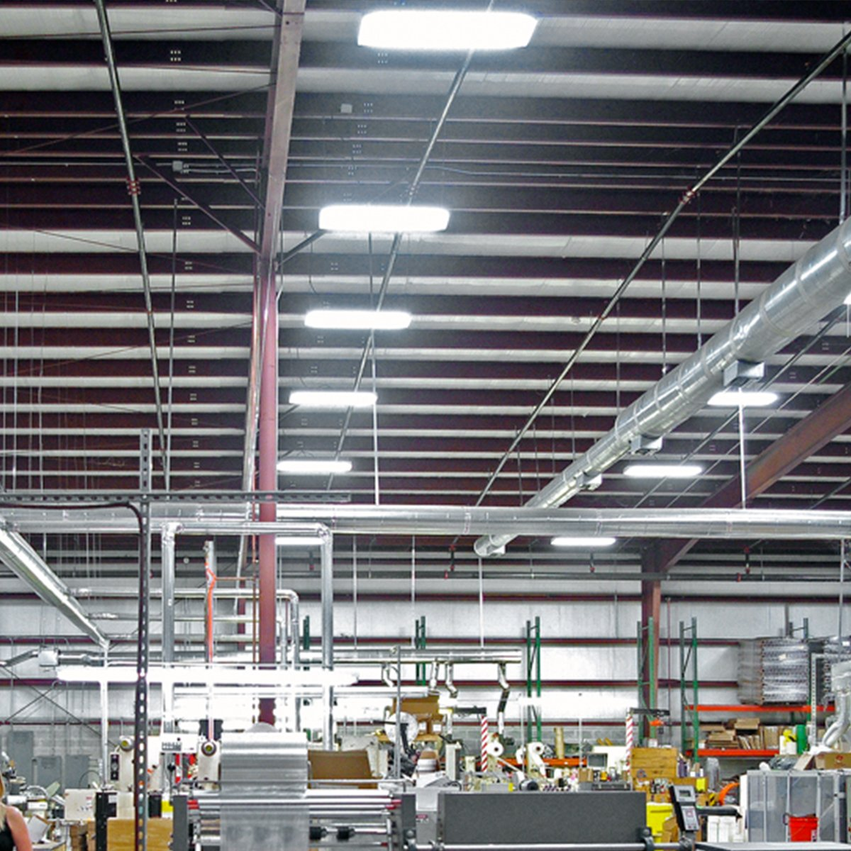 LED High Bay Light,140W 0-10V Dimmable [300W-450 Equivalent] 20250lm 5000K Daylight IP65 Waterproof Industrial Grade Warehouse Hanging Light Workshop Lamp cETLus Listed-140W-1Pack-L