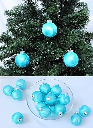 Christbaumkugeln Türkis Glas.Thüringer Glas Eislack Christbaumkugeln Türkis Weihnachtskugeln 4 5