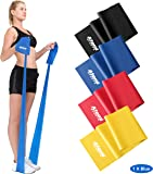 Resistance Band   1.2 Metre or 2 Metre   Four Resistance Levels   Free Workout Guide   Exercise Band Ideal for…