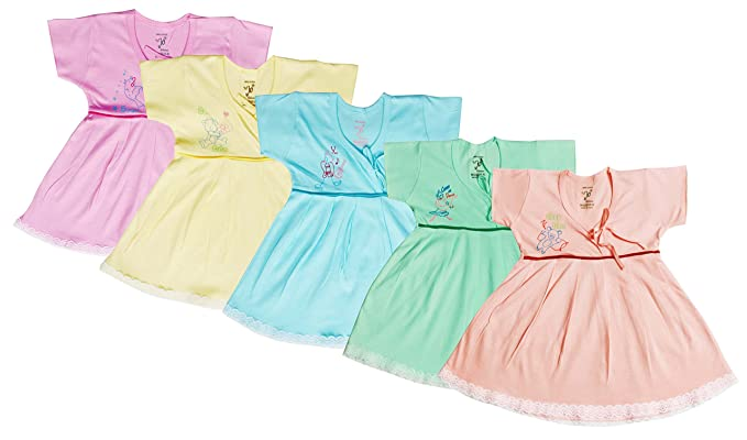 46525e7b0b2e Jo Kids Wear Baby Girls Frock Set (4015 Multicolour 0 - 3 Months)