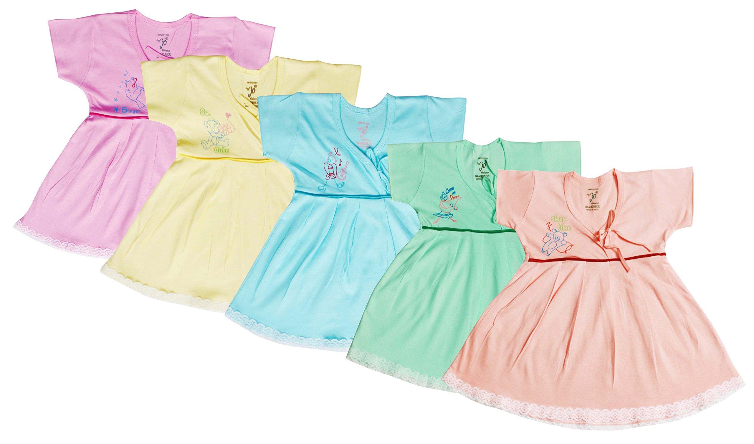 7c36e3f8a294 Jo Kids Wear Baby Girls Frock Set (4015_Multicolour_0 - 3 Months)