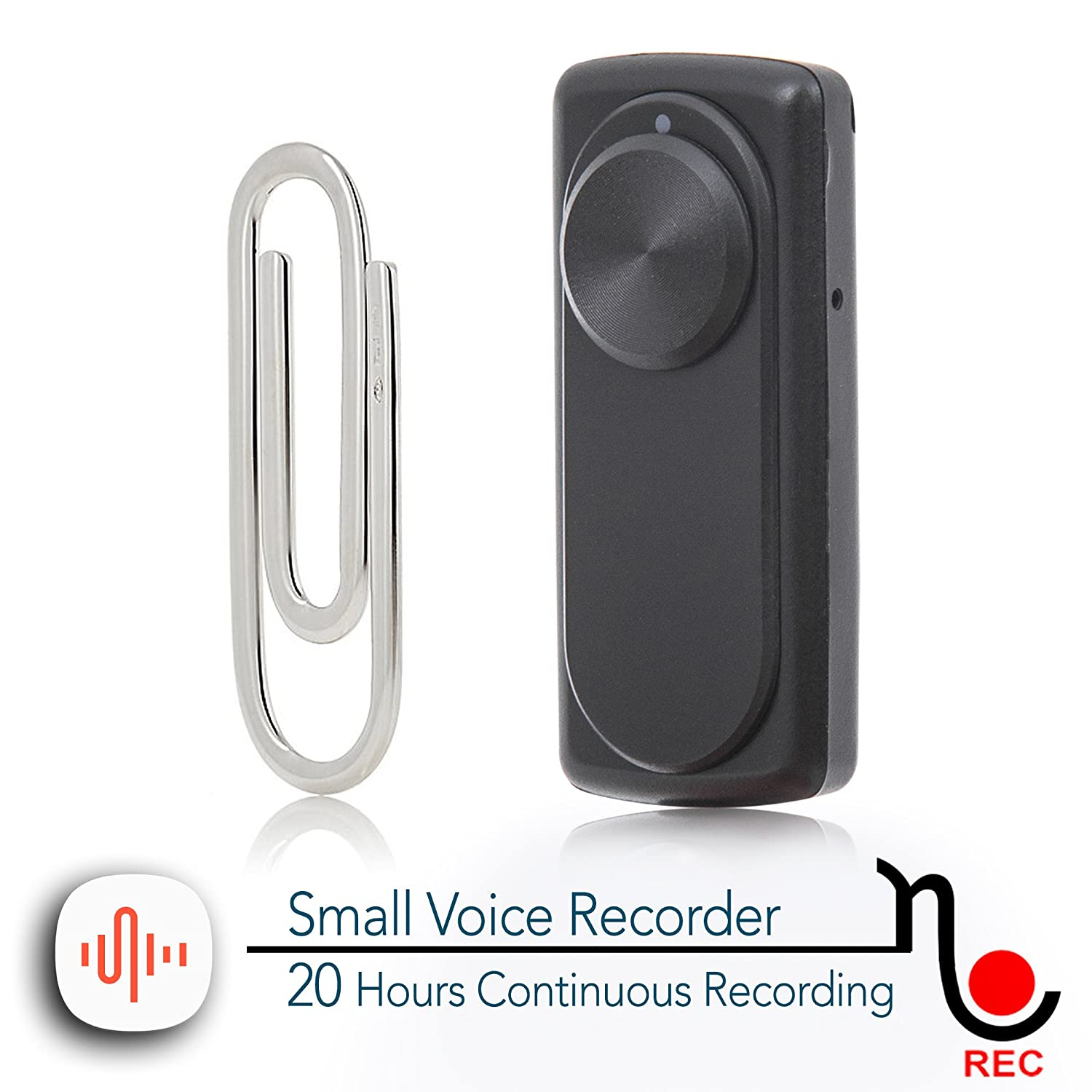 Small Voice Recorder with 20 Hours Battery Life | Ideal for Lectures, Meetings, Evidence or Interviews | 141 Hours Capacity on 8GB | nanoREC by aTTo digital