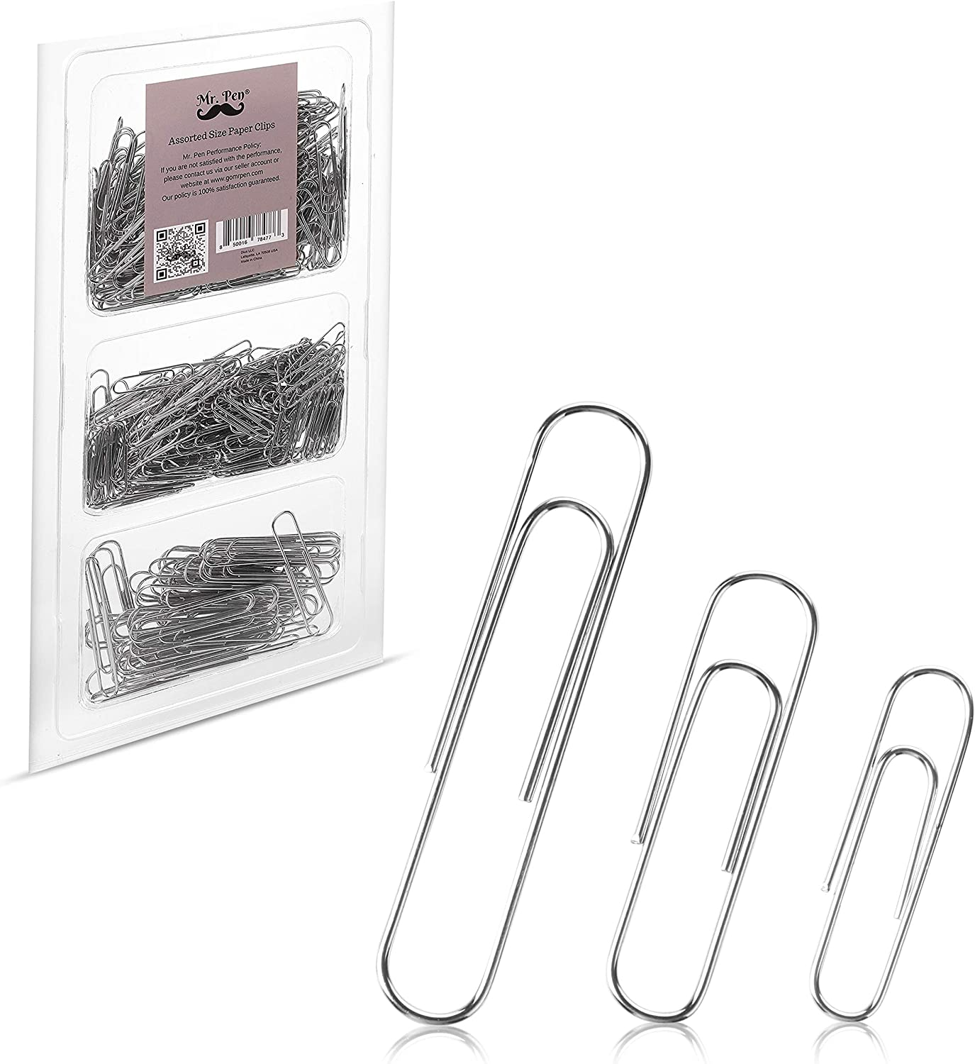 Mr. Pen- Paper Clips, 450 Pack, Silver, Paper Clips Assorted Sizes, Paperclips, Paper Clip, Large Paper Clips, Clips for Paperwork, Small Paper Clips, Big Paper Clips, Paper Clip Assortment, Clip : Office Products