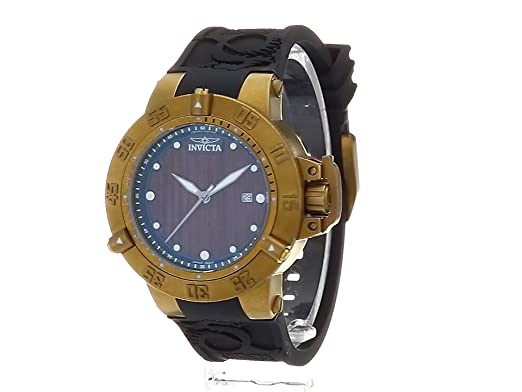 Amazon.com: Invicta Mens Subaqua Swiss Quartz Stainless Steel and Silicone Casual Watch, Color:Black (Model: 19642): Watches