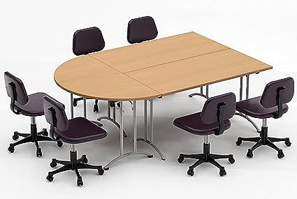 Amazoncom TeamWORKTables Compact Space Maximum Collaboration - Conference table setup