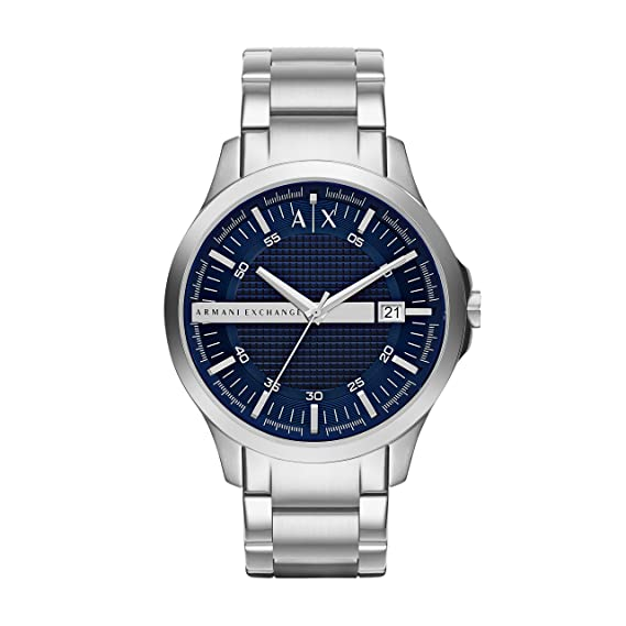 cc9446fadc3 Image Unavailable. Image not available for. Colour  Armani Exchange Hampton  Analog Blue Dial Men s Watch ...