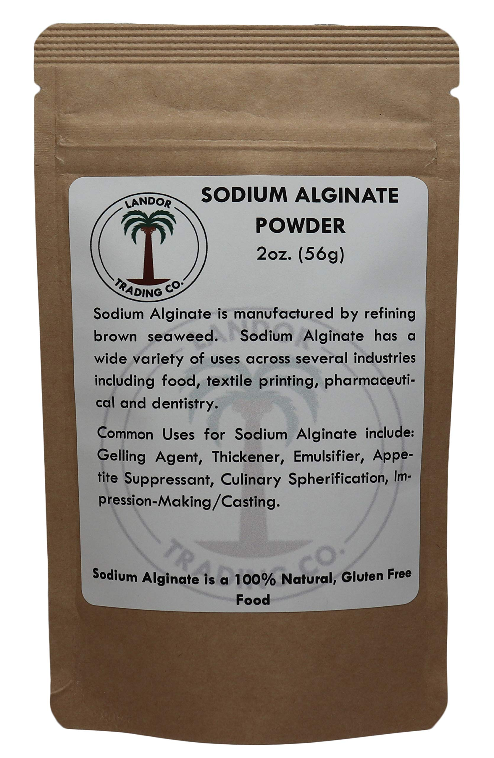 Sodium Alginate - Food Grade - 2 Ounces - Gastronomy