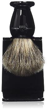 Edwin jagger - Brocha de afeitar (con soporte, tamao s), color bano y plateado