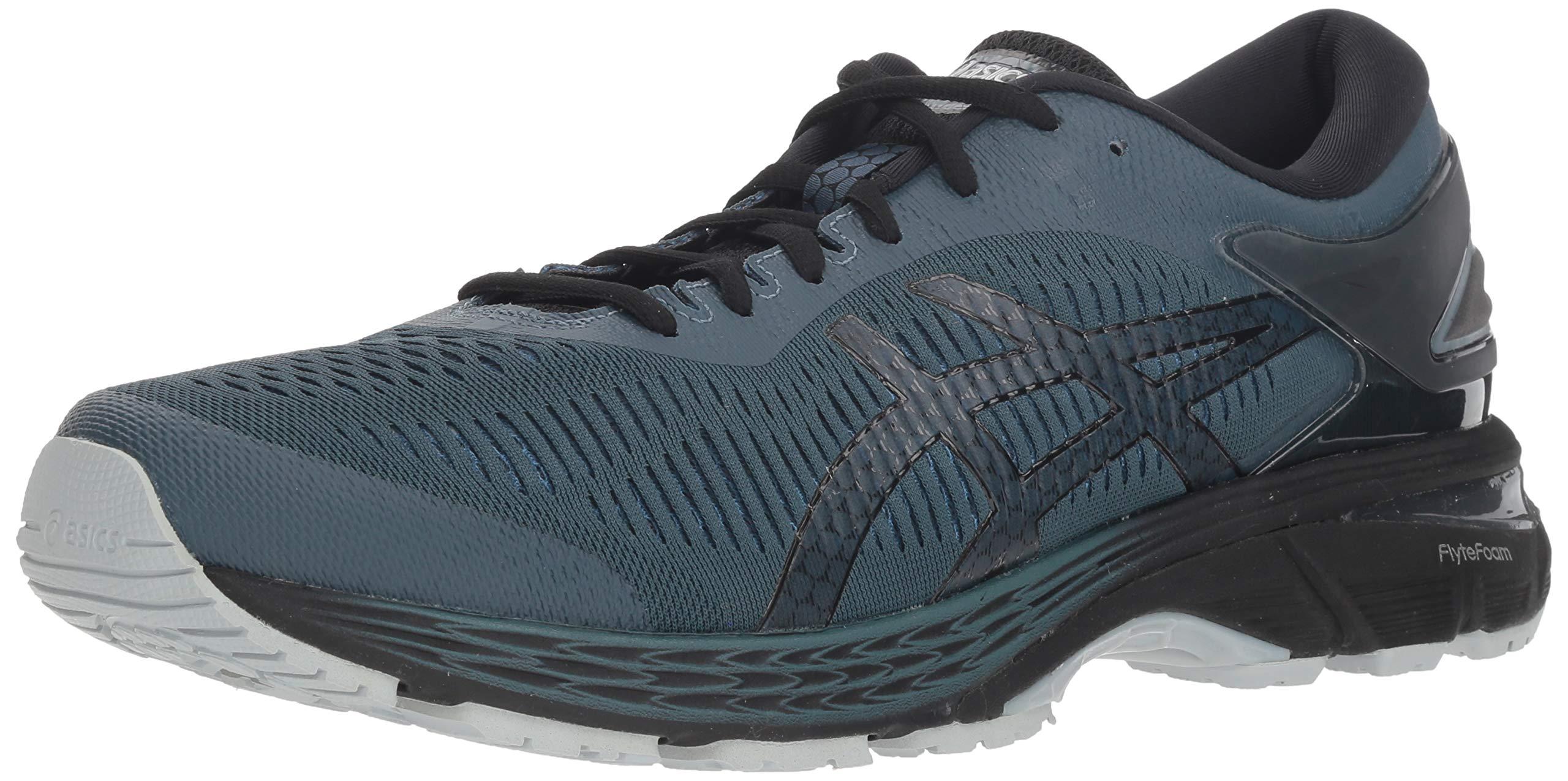 ASICS Men's Gel-Kayano 25 Running Shoe, Ironclad/Black, 13 D(M) US