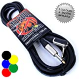 Guitar Lead/Cable: 10ft / 3m Electric/Electro-Acoustic/Bass/Instrument + Lifetime Warranty