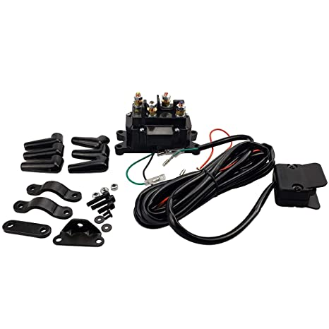 Amazon.com: MaySpare 250A 12V Winch Solenoid Relay Contactor Winch on