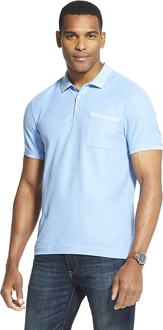 Van Heusen Slim Fit Never Tuck Short Sleeve Solid Polo Shirt ...