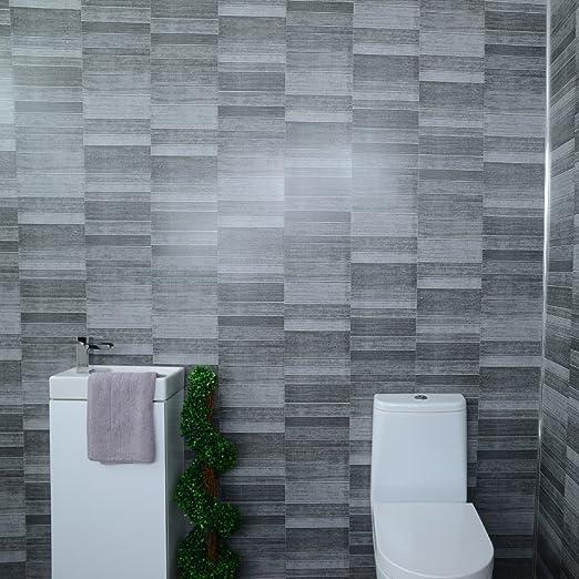 Cladding Panels Splashbacks Kitchen Shower Wetrooms 100 Waterproof By 6 Panel Pack Claddtech Dark Grey Bathroom Wall Panels Splashbacks Small Tile Effect Opa Opticad Com