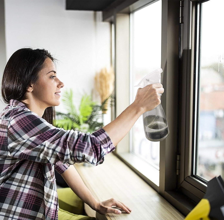 MaoXinTek Spray Bottle 500ml Plastic Refillable Sprayer Leak Proof Durable Trigger Bottles with Mist/& Stream Modes for Cleaning Gardening Feeding 2Pcs