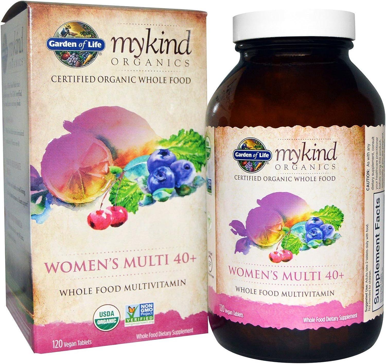 Garden of Life Kind Organics Women's 40 Plus Multivitamin, 120 Organic Tablets (Pack of 3)
