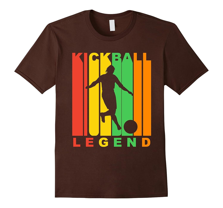 Retro 1970's Style Kickball Legend Silhouette Retro T-Shirt-ANZ