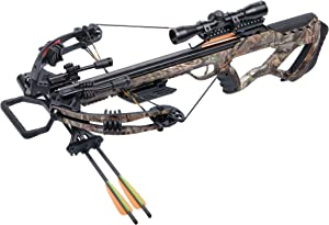 CenterPoint Tormentor Whisper AXCTW185CK Compound Crossbow with 4x32 Scope, RCD
