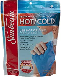 Sunbeam 1909-715 Large Resealable Hot or Cold Pack, Blue by ...