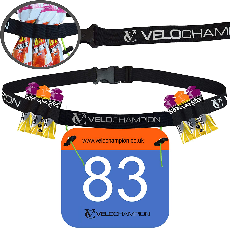 Maxgear Ltd VeloChampion Cinturon Lleva Numero para Triatlon Y ...