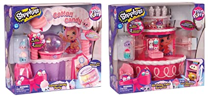 Shopkins Season 7 Birthday Cake Surprise PLUS Cotton Candy Party Playset