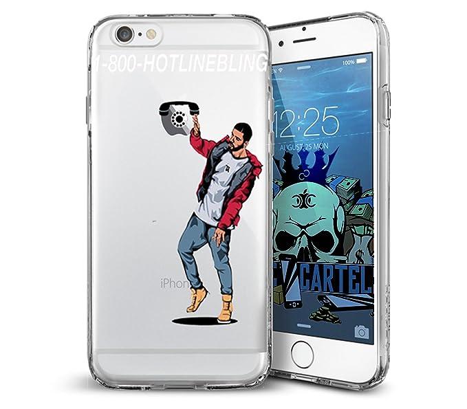 pretty nice f650d 21eeb Amazon.com: Drake 1-800-Hotline Bling iphone Case (7+, 8+): Cell ...