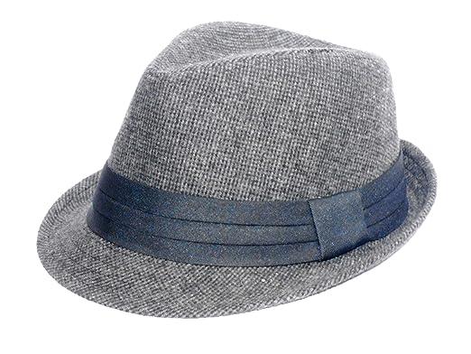 Alvaro castagnino Black Men Fedora Cap Hats  Amazon.in  Clothing    Accessories 1770f82f158b