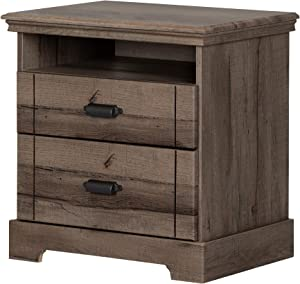 South Shore Avilla 2-Drawer Nightstand, Fall Oak