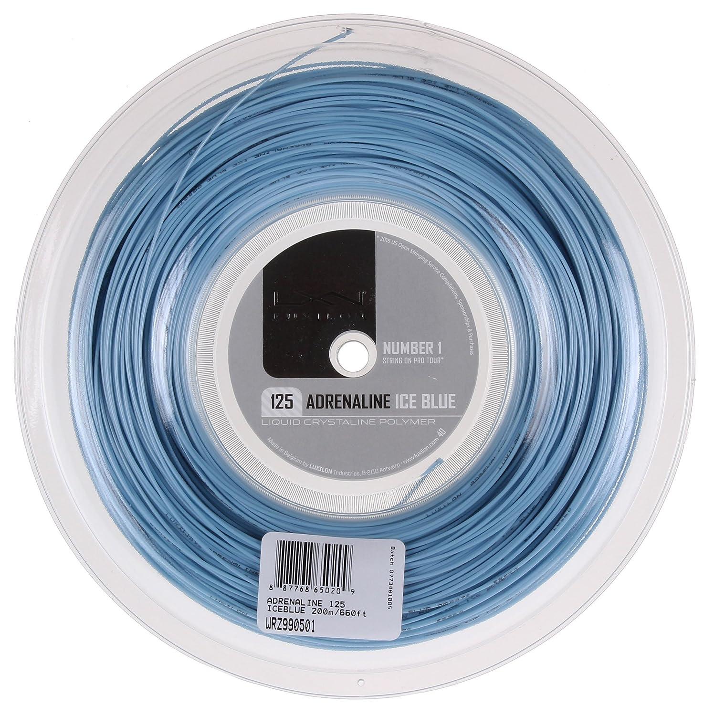 Wilson Saiten für Tennisschläger, Luxilon Adrenaline 125 Reel, Monofilament, blau, Polymer, 200 m, WRZ990501 AMWI5|#Wilson