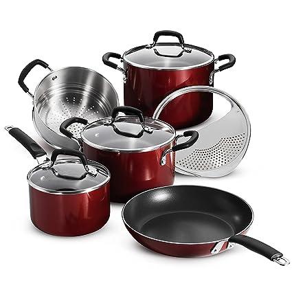 Tramontina - Juego de utensilios de cocina de 9 piezas de aluminio ...