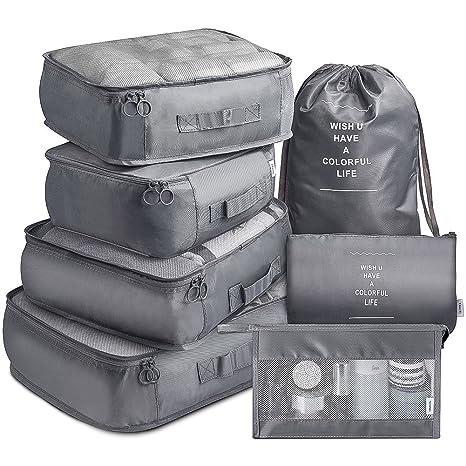 06da81cba351 Amazon.com | Packing Cubes VAGREEZ 7 Pcs Travel Luggage Packing ...