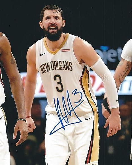 Autographed Nikola Mirotic 8X10 New Orleans Pelicans Photo at ... 795116bf1