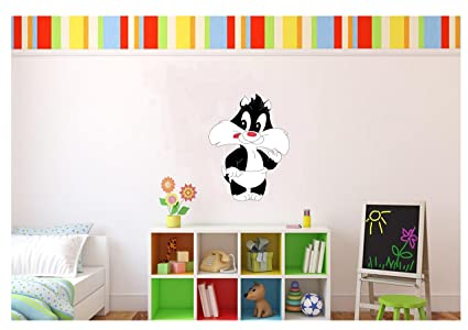 Amazon.com: Large Baby Sylvester Looney Tunes Wall Decal Kids Room ...
