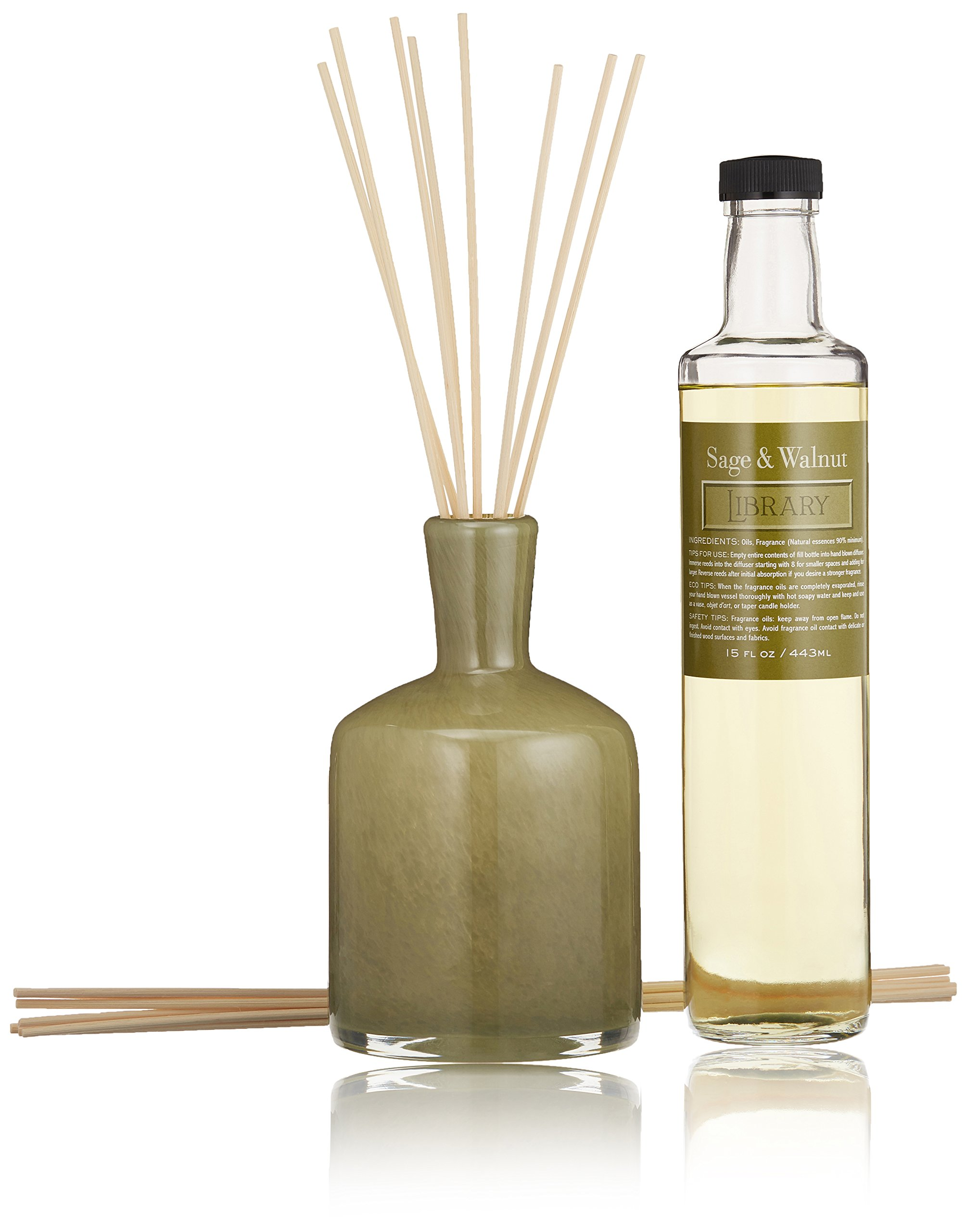 LAFCO House & Home Diffuser, Library Sage & Walnut, 15 Fl Oz